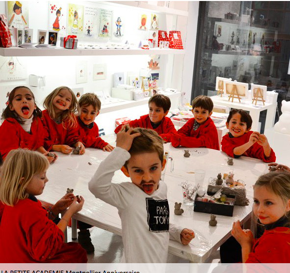 Anniv dans un atelier Galerie - 4/12 ans - Montpellier 34