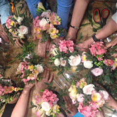 Atelier Anniversaire fleuri à l'atelier - Paris 7è