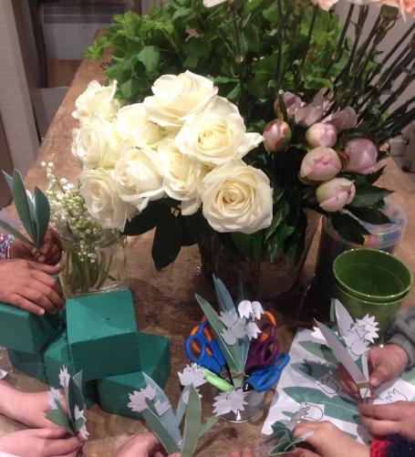 Anniversaire fleuri à domicile - 4/12 ans