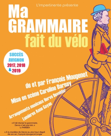Ma grammaire fait du vélo - Théâtre essaïon - Paris 4è